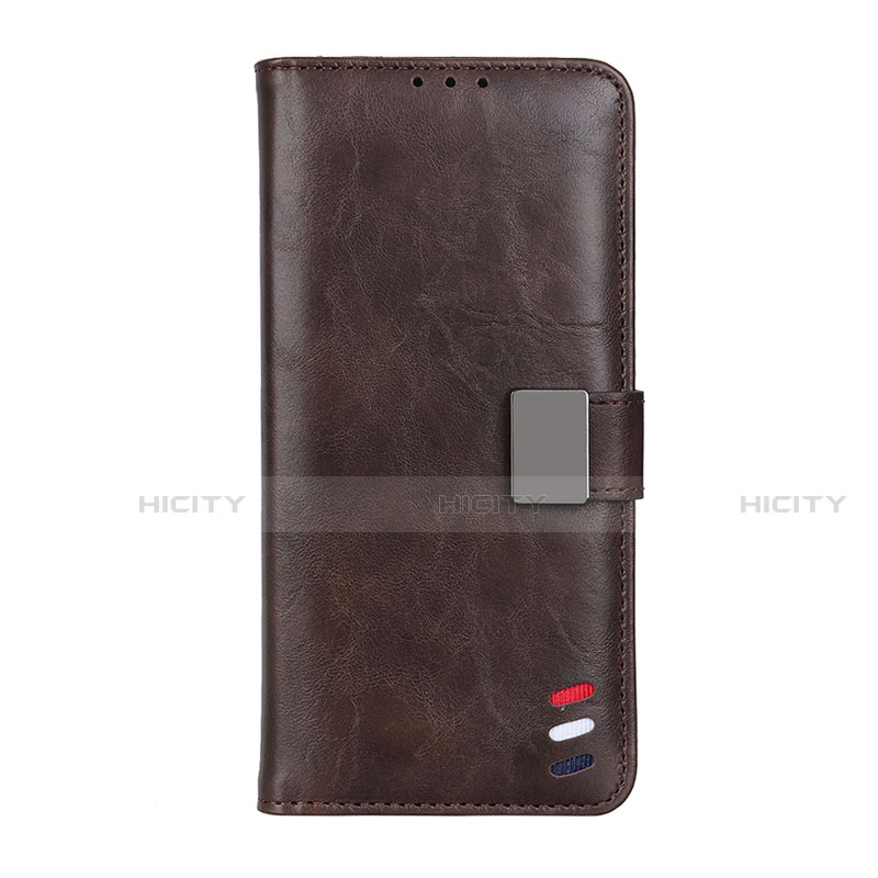 Handytasche Stand Schutzhülle Flip Leder Hülle L04 für Motorola Moto G9 Plus Braun Plus