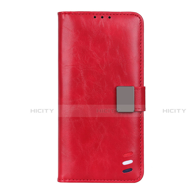 Handytasche Stand Schutzhülle Flip Leder Hülle L04 für Motorola Moto G9 Plus Rot Plus