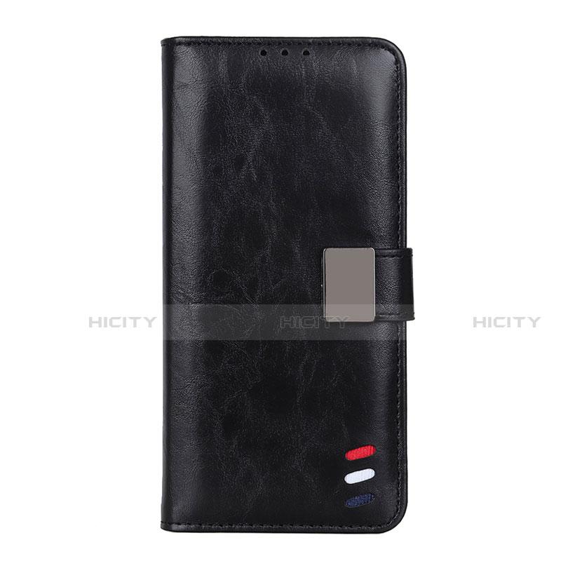 Handytasche Stand Schutzhülle Flip Leder Hülle L04 für Motorola Moto G9 Plus Schwarz Plus