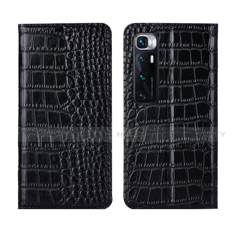 Handytasche Stand Schutzhülle Flip Leder Hülle L04 für Xiaomi Mi 10 Ultra Schwarz Plus