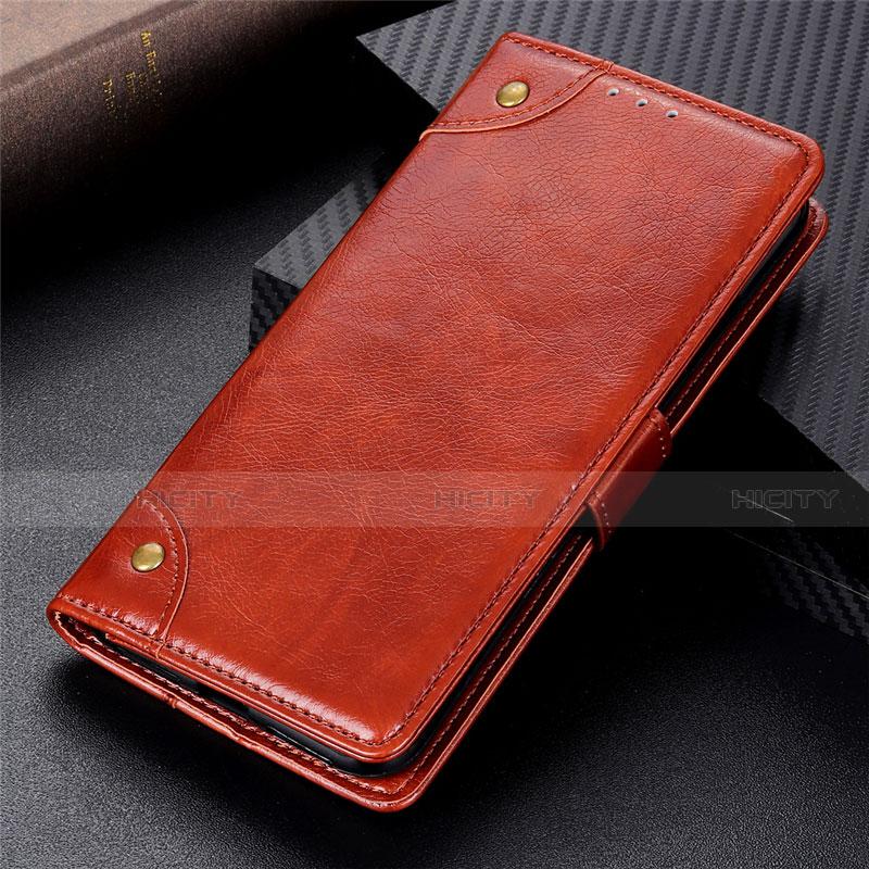 Handytasche Stand Schutzhülle Flip Leder Hülle L06 für Motorola Moto G9 Plus Hellbraun Plus