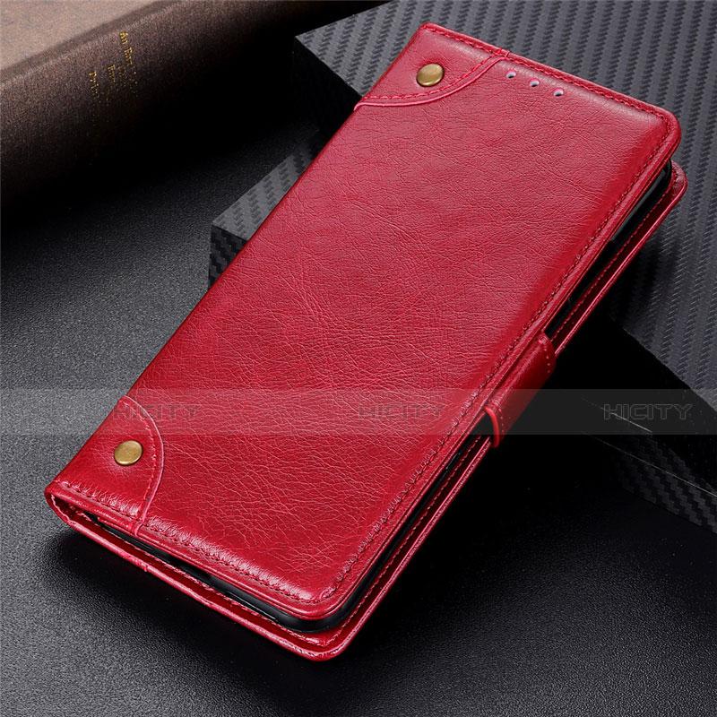 Handytasche Stand Schutzhülle Flip Leder Hülle L06 für Motorola Moto G9 Plus Rot Plus