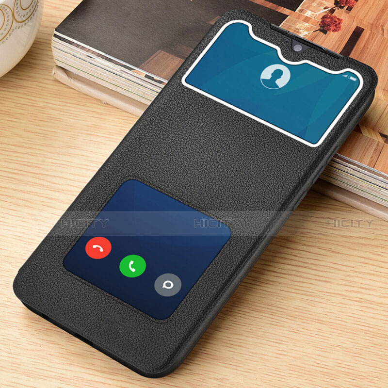 Handytasche Stand Schutzhülle Flip Leder Hülle L06 für Xiaomi Redmi Note 8 Pro Schwarz Plus