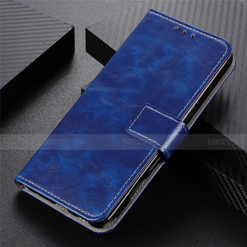 Handytasche Stand Schutzhülle Flip Leder Hülle L07 für Motorola Moto G9 Plus Blau Plus