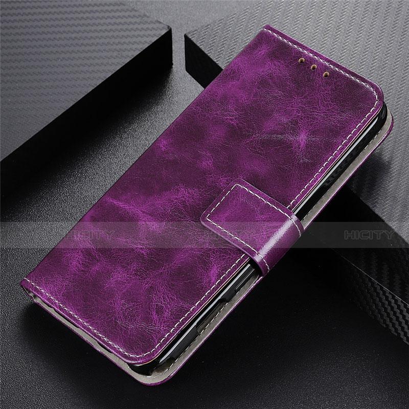 Handytasche Stand Schutzhülle Flip Leder Hülle L07 für Motorola Moto G9 Plus Violett Plus