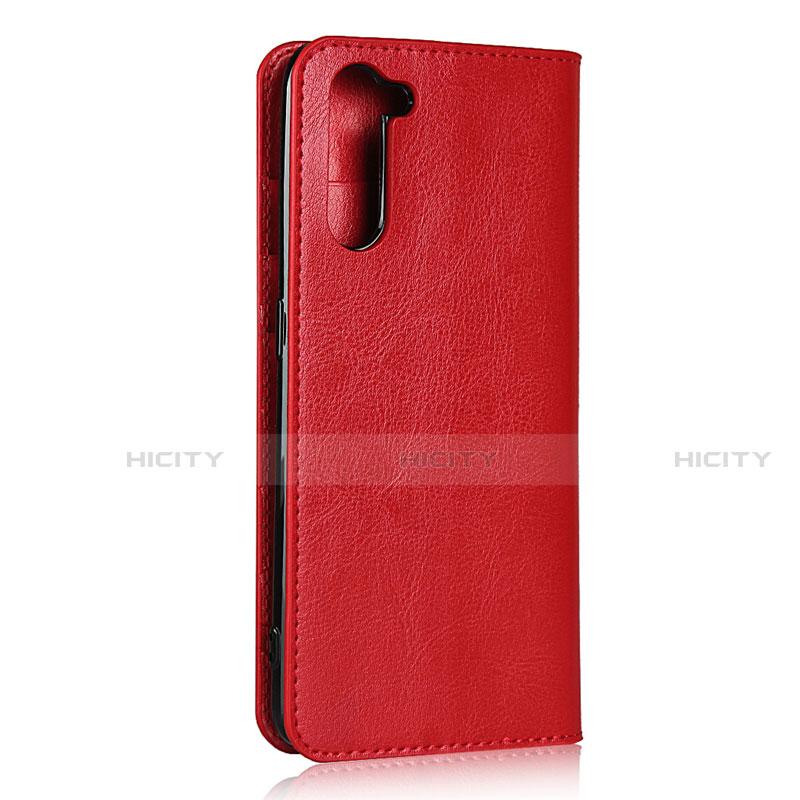 Handytasche Stand Schutzhülle Flip Leder Hülle L07 für Oppo Reno3 A Rot Plus