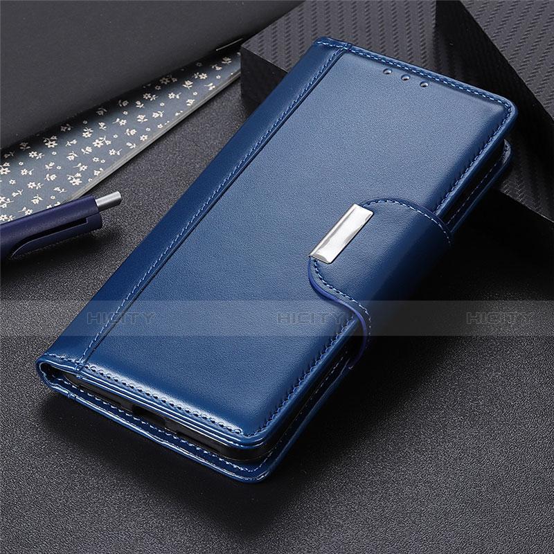 Handytasche Stand Schutzhülle Flip Leder Hülle L10 für Oppo Reno3 A Blau Plus