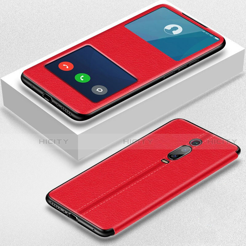 Handytasche Stand Schutzhülle Flip Leder Hülle T02 für Xiaomi Mi 9T Pro Rot Plus