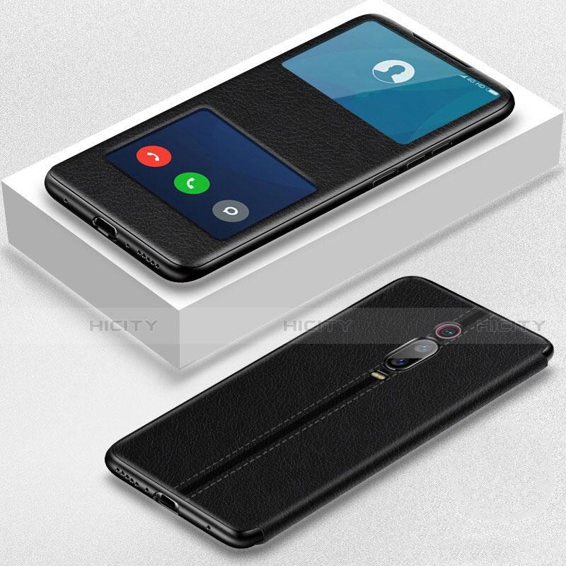 Handytasche Stand Schutzhülle Flip Leder Hülle T02 für Xiaomi Mi 9T Pro Schwarz Plus