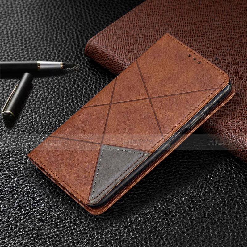 Handytasche Stand Schutzhülle Flip Leder Hülle T08 für Oppo Reno4 Pro 5G Braun Plus