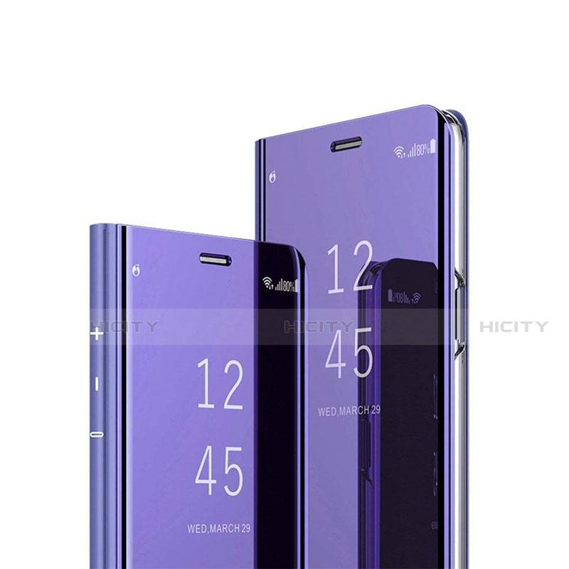 Handytasche Stand Schutzhülle Flip Leder Rahmen Spiegel Tasche L02 für Xiaomi Mi 10 Ultra groß