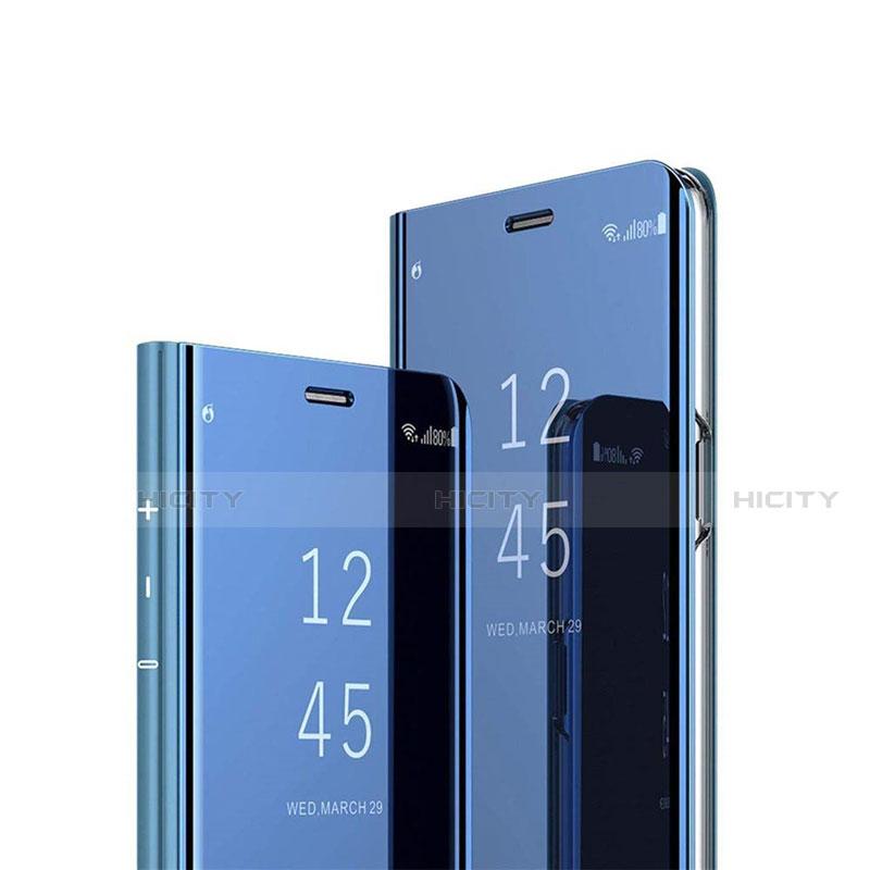 Handytasche Stand Schutzhülle Flip Leder Rahmen Spiegel Tasche L02 für Xiaomi Mi 10 Ultra Blau Plus