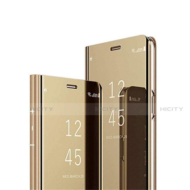 Handytasche Stand Schutzhülle Flip Leder Rahmen Spiegel Tasche L02 für Xiaomi Mi 10 Ultra Gold Plus