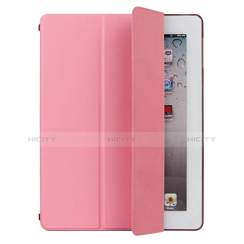 Handytasche Stand Schutzhülle Leder für Apple iPad 4 Rosa groß