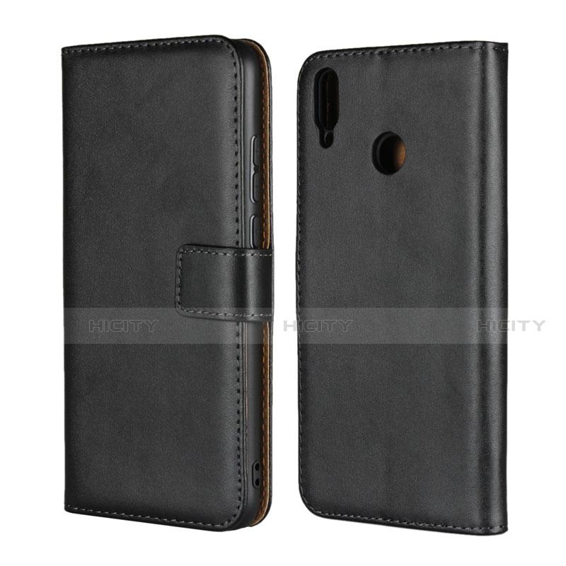 Handytasche Stand Schutzhülle Leder für Huawei Honor 8X Schwarz Plus