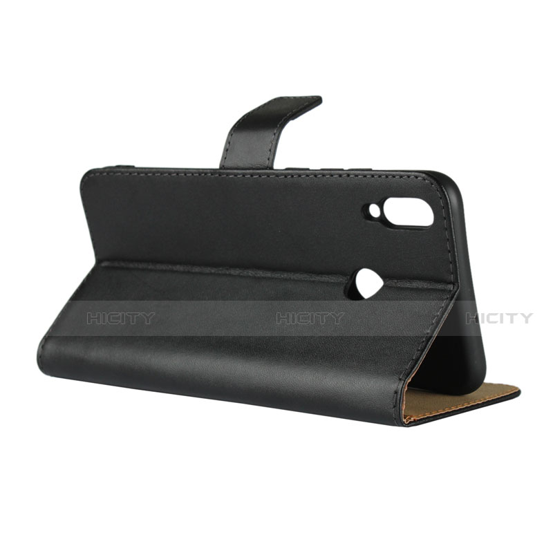 Handytasche Stand Schutzhülle Leder für Huawei Honor 8X Schwarz groß