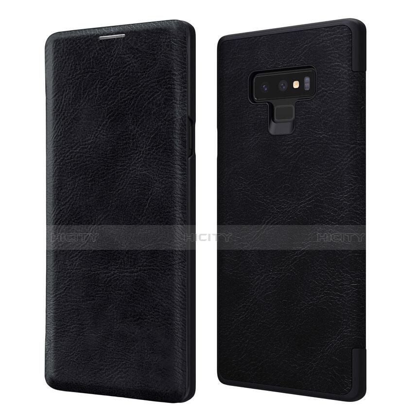 Handytasche Stand Schutzhülle Leder für Samsung Galaxy Note 9 Schwarz Plus