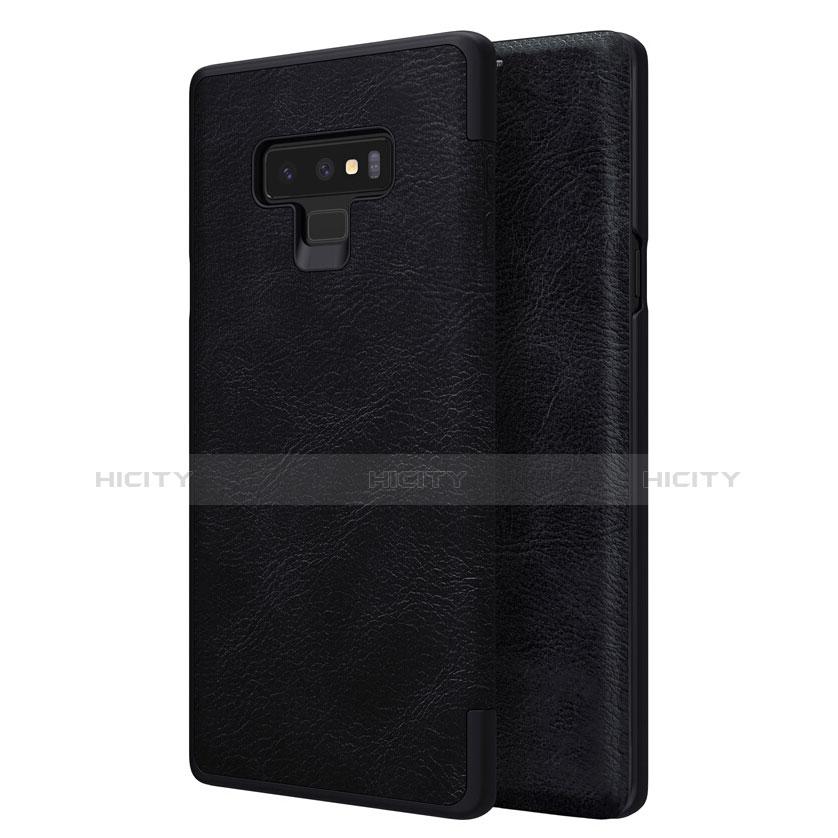 Handytasche Stand Schutzhülle Leder für Samsung Galaxy Note 9 Schwarz groß
