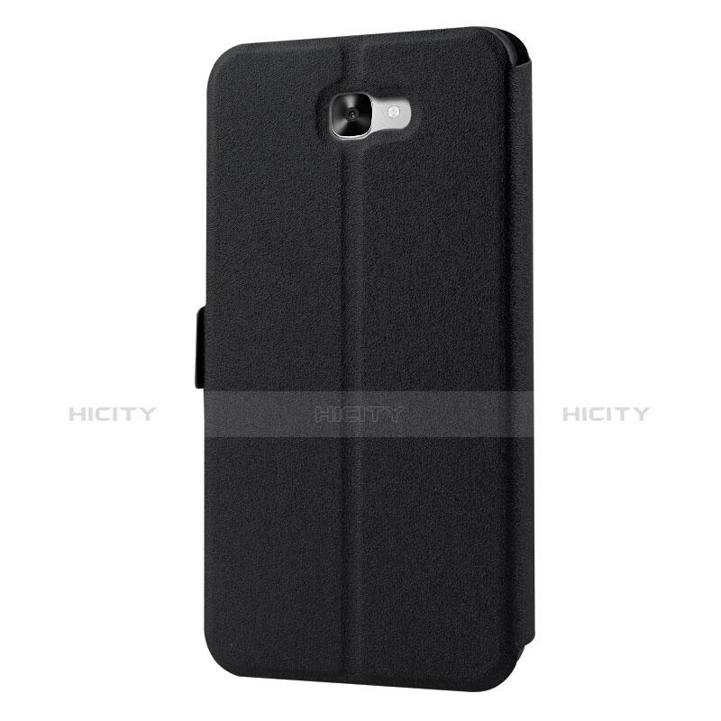 Handytasche Stand Schutzhülle Leder für Samsung Galaxy On7 (2016) G6100 Schwarz groß