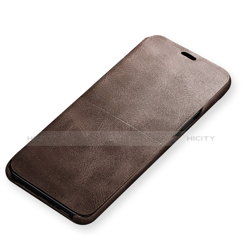Handytasche Stand Schutzhülle Leder für Samsung Galaxy S9 Braun Plus