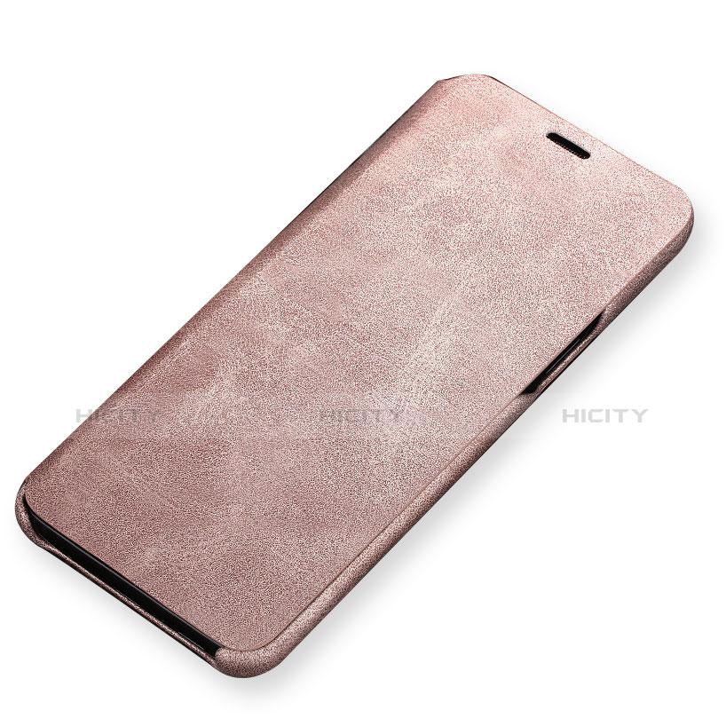 Handytasche Stand Schutzhülle Leder für Samsung Galaxy S9 Gold Plus