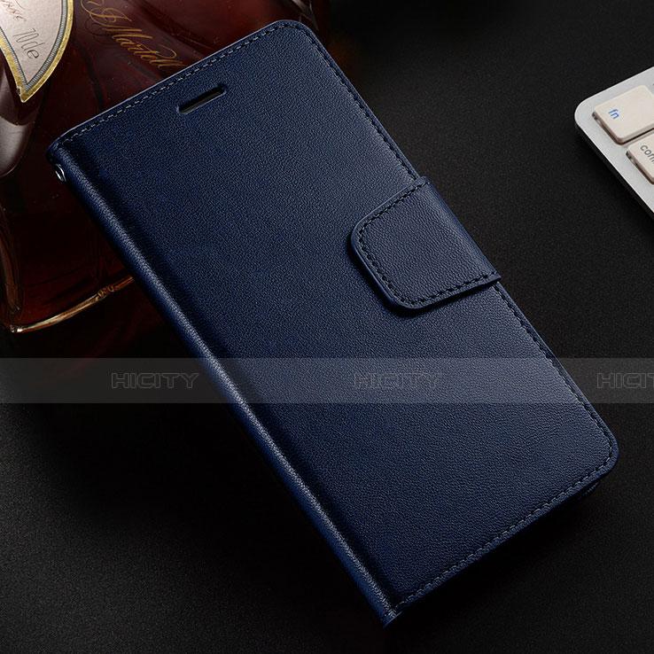 Handytasche Stand Schutzhülle Leder Hülle L03 für Huawei Honor 8X Blau Plus