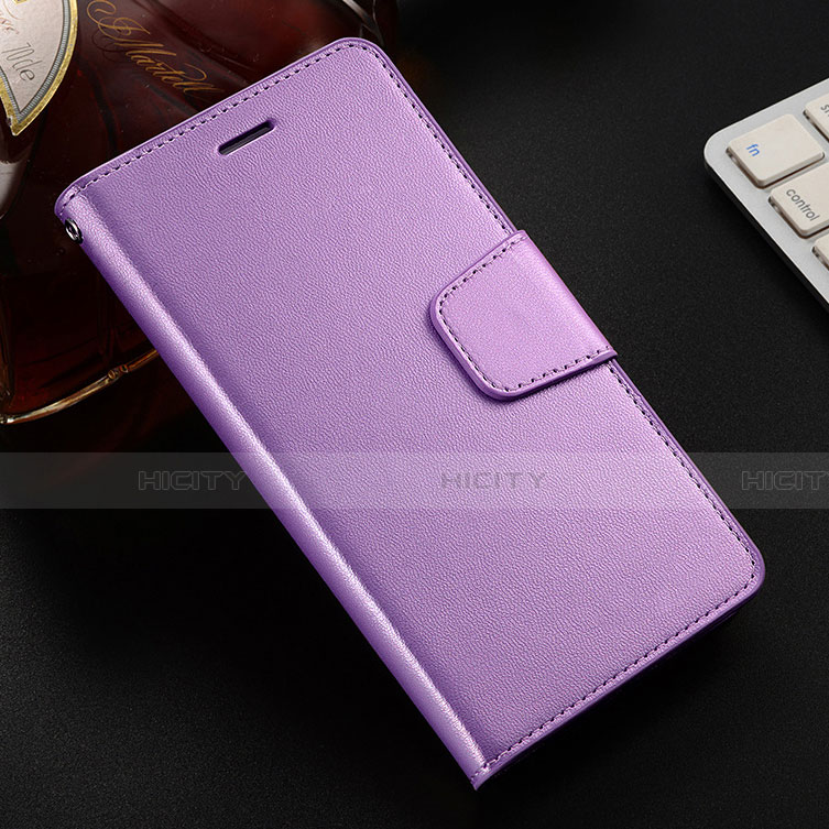 Handytasche Stand Schutzhülle Leder Hülle L03 für Huawei Honor 8X Violett Plus