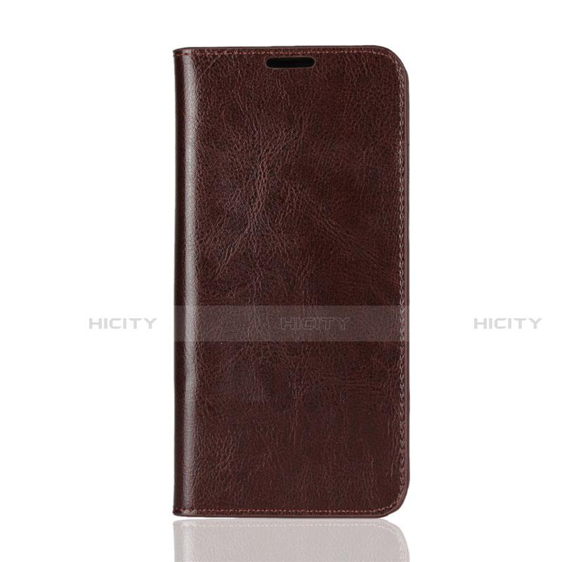 Handytasche Stand Schutzhülle Leder Hülle L08 für Huawei Honor 8X Braun Plus