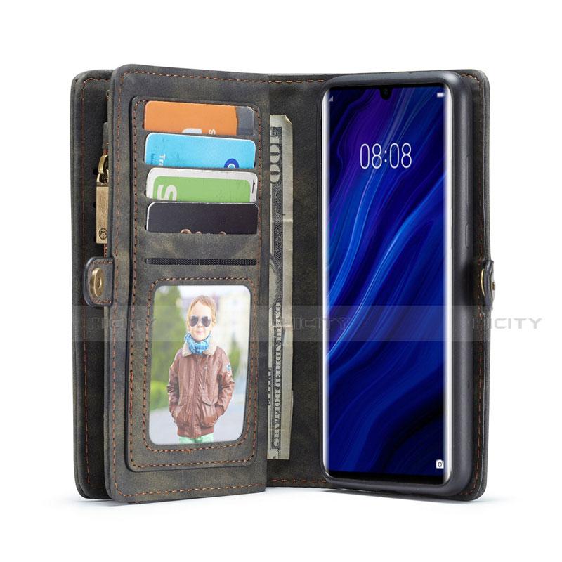 Handytasche Stand Schutzhülle Leder Hülle T03 für Huawei P30 Pro groß