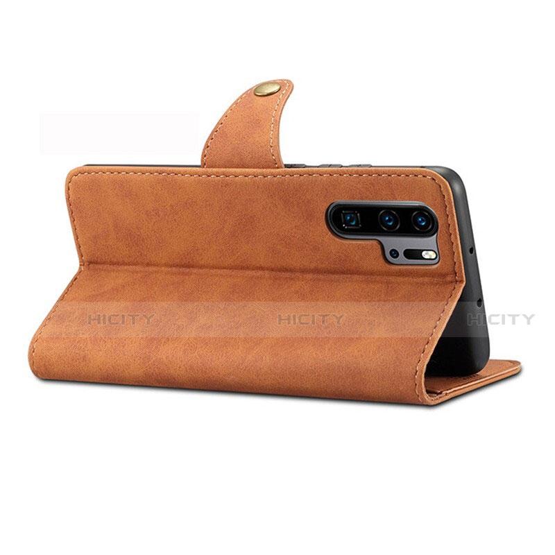 Handytasche Stand Schutzhülle Leder Hülle T09 für Huawei P30 Pro groß