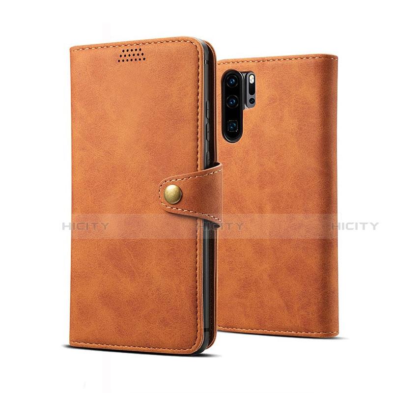 Handytasche Stand Schutzhülle Leder Hülle T09 für Huawei P30 Pro Orange Plus