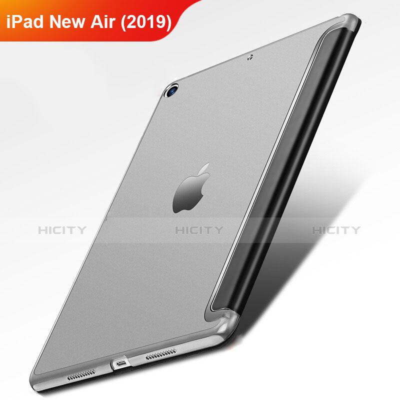 Handytasche Stand Schutzhülle Leder L01 für Apple iPad New Air (2019) 10.5 Schwarz Plus