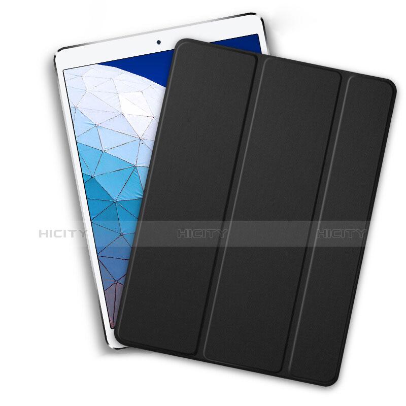 Handytasche Stand Schutzhülle Leder L01 für Apple iPad New Air (2019) 10.5 Schwarz groß