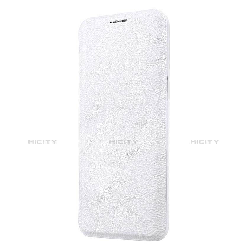 Handytasche Stand Schutzhülle Leder L01 für Samsung Galaxy S9 Plus Weiß groß