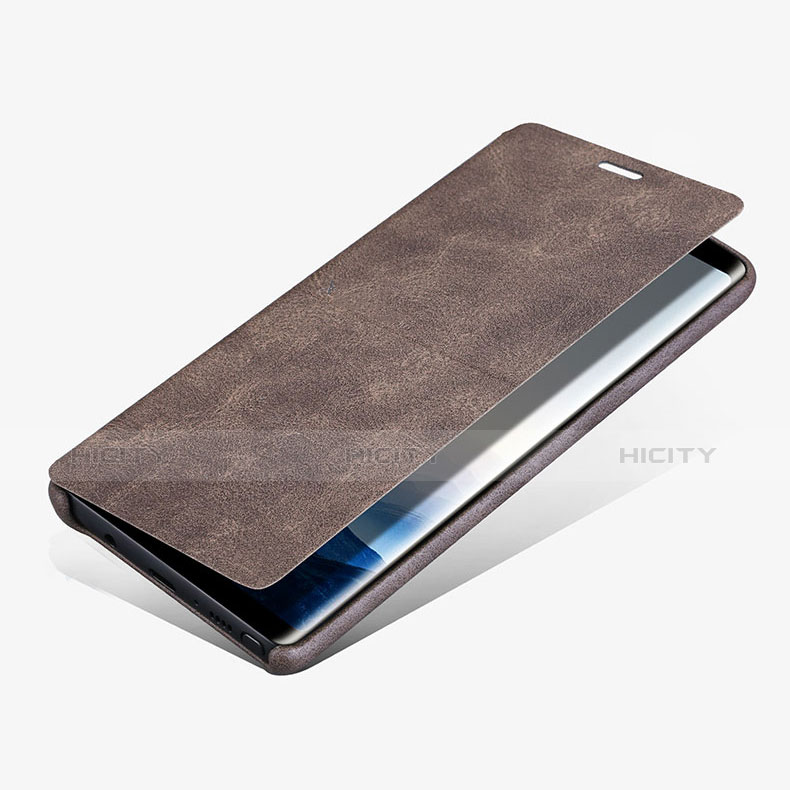 Handytasche Stand Schutzhülle Leder L02 für Samsung Galaxy Note 8 groß