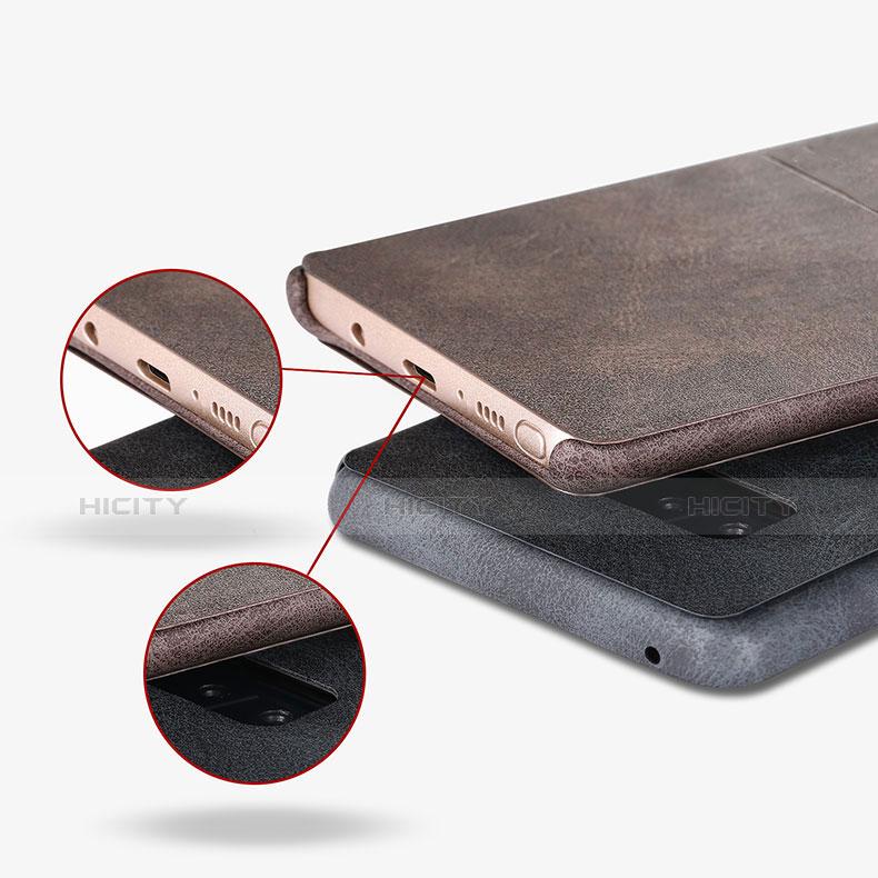 Handytasche Stand Schutzhülle Leder L02 für Samsung Galaxy Note 8 Duos N950F groß