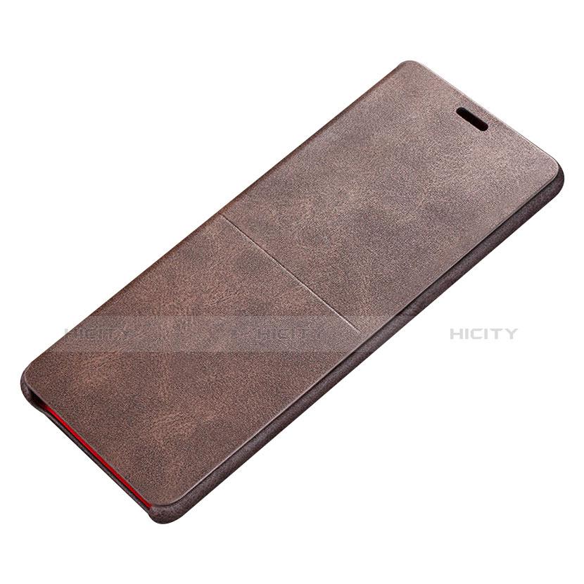 Handytasche Stand Schutzhülle Leder L02 für Samsung Galaxy Note 8 Duos N950F Braun Plus