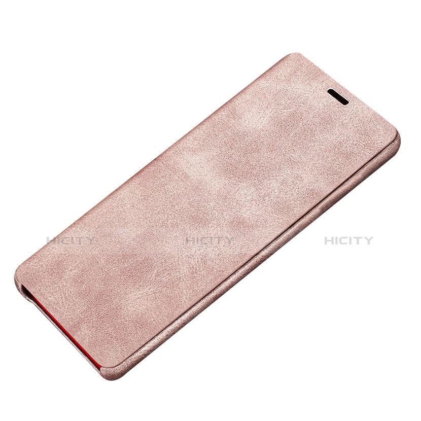Handytasche Stand Schutzhülle Leder L02 für Samsung Galaxy Note 8 Duos N950F Rosa Plus