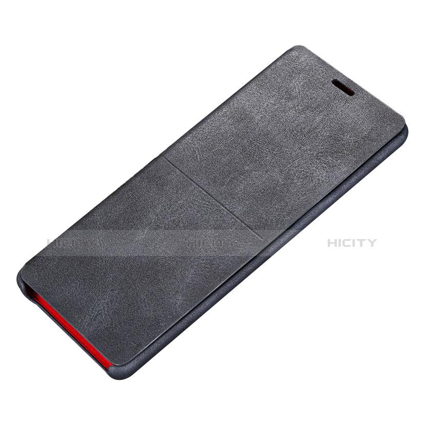 Handytasche Stand Schutzhülle Leder L02 für Samsung Galaxy Note 8 Duos N950F Schwarz Plus