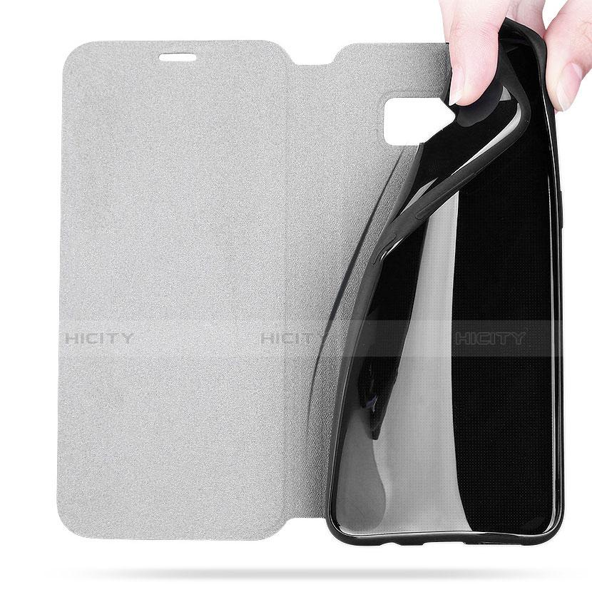 Handytasche Stand Schutzhülle Leder L02 für Samsung Galaxy S8 Schwarz groß
