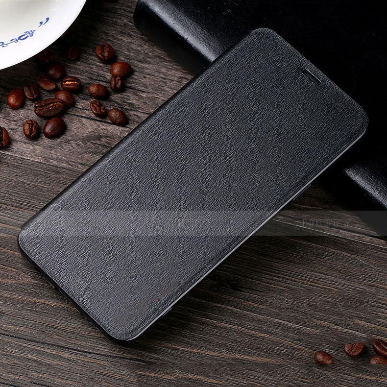 Handytasche Stand Schutzhülle Leder L02 für Samsung Galaxy S9 Schwarz groß