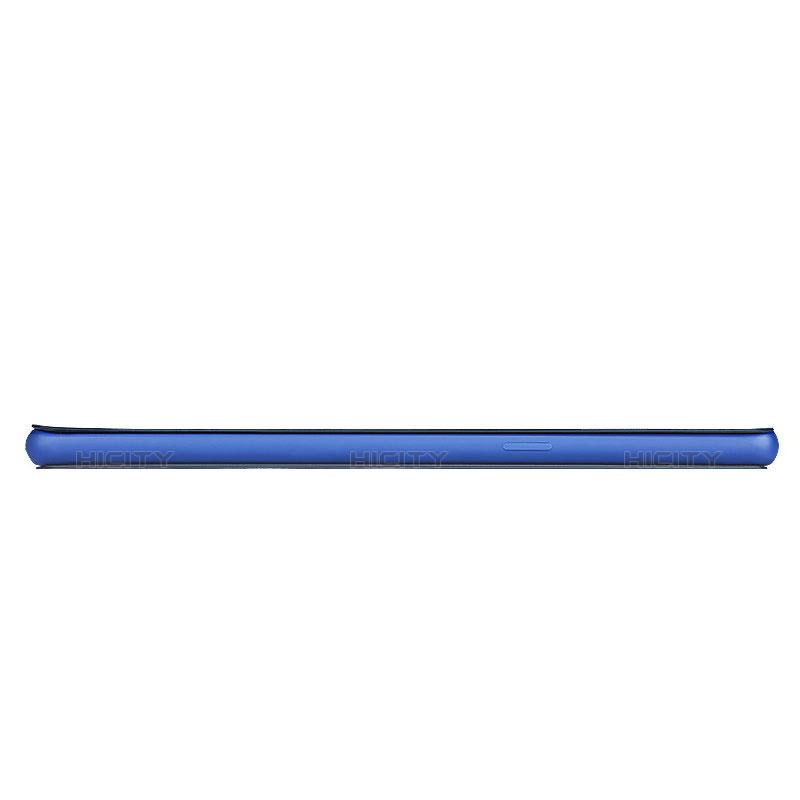 Handytasche Stand Schutzhülle Leder L03 für Samsung Galaxy Note 8 Blau groß