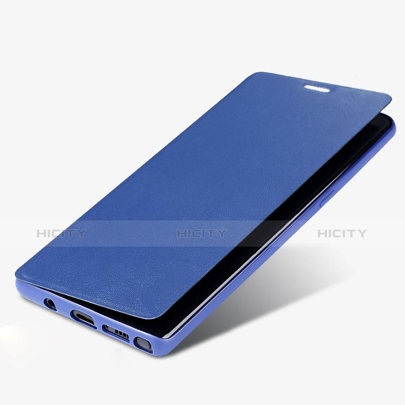 Handytasche Stand Schutzhülle Leder L03 für Samsung Galaxy Note 8 Duos N950F Blau Plus