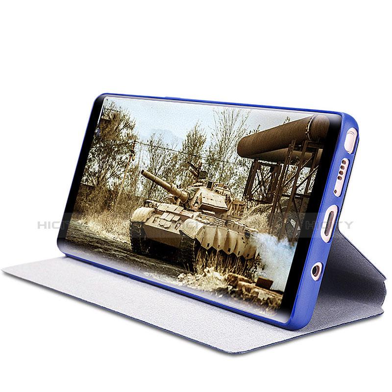 Handytasche Stand Schutzhülle Leder L03 für Samsung Galaxy Note 8 Duos N950F Blau
