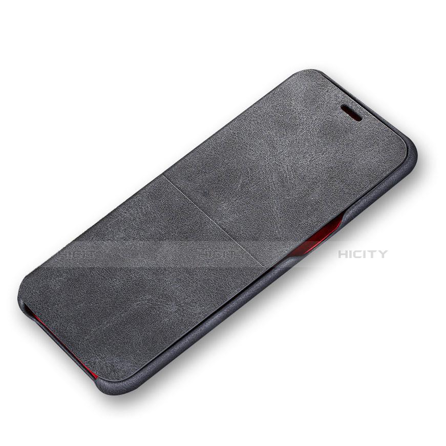 Handytasche Stand Schutzhülle Leder L03 für Samsung Galaxy S8 Schwarz groß