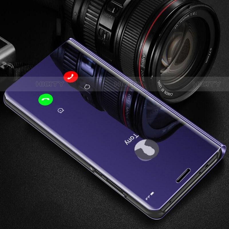 Handytasche Stand Schutzhülle Leder Rahmen Spiegel Tasche für Samsung Galaxy Note 10 Plus 5G groß