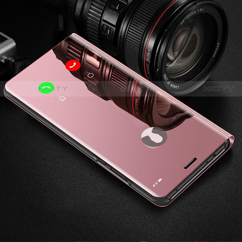 Handytasche Stand Schutzhülle Leder Rahmen Spiegel Tasche für Samsung Galaxy Note 10 Plus 5G Rosegold Plus