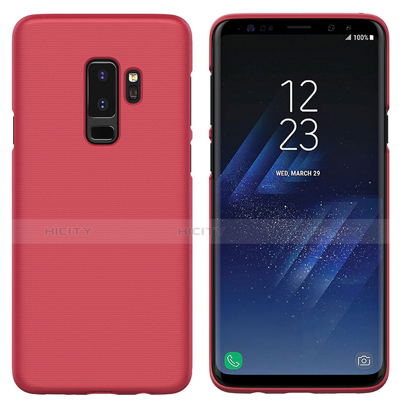 Hülle Kunststoff Schutzhülle Matt M02 für Samsung Galaxy S9 Plus Rot Plus