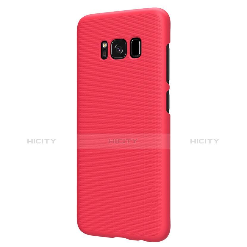 Hülle Kunststoff Schutzhülle Matt P01 für Samsung Galaxy S8 Plus Rot groß