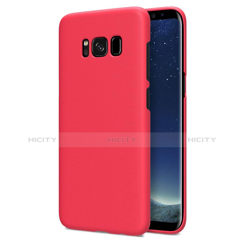 Hülle Kunststoff Schutzhülle Matt P01 für Samsung Galaxy S8 Rot Plus